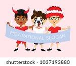 fan of austria national... | Shutterstock .eps vector #1037193880