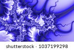 Blue Wave Fractal Swirl Effect...