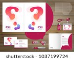 folder template design for... | Shutterstock .eps vector #1037199724