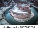 a unique view of horseshoe bend ... | Shutterstock . vector #1037200288