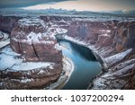 a unique view of horseshoe bend ... | Shutterstock . vector #1037200294