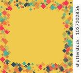 rhombus banner minimal... | Shutterstock .eps vector #1037202856