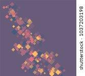rhombus violet minimal... | Shutterstock .eps vector #1037203198