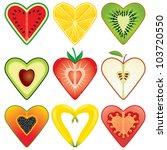 Heart Shaped Healthy Fruit...