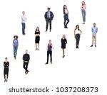 group of twelve different people | Shutterstock . vector #1037208373