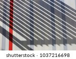 view of a colored facade of a... | Shutterstock . vector #1037216698