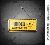 under construction sign hanging ... | Shutterstock .eps vector #103722098