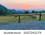 terrace on barley field in... | Shutterstock . vector #1037242174
