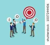 businessman give motivation for ... | Shutterstock .eps vector #1037244406