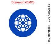vector diamond  dmd  digital... | Shutterstock .eps vector #1037252863