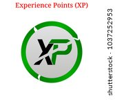 vector experience points  xp ... | Shutterstock .eps vector #1037252953