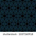 decorative wallpaper design in... | Shutterstock .eps vector #1037260918