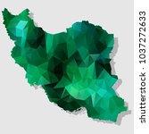 map iran map each city combines ... | Shutterstock .eps vector #1037272633