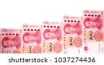 rmb 100 yuan | Shutterstock . vector #1037274436