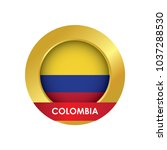 colombia flag icon button with... | Shutterstock .eps vector #1037288530