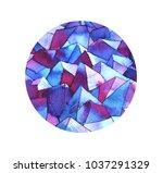watercolor minerals  gemstone | Shutterstock . vector #1037291329