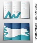 blue fold set technology annual ... | Shutterstock .eps vector #1037292859