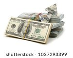 isolated dollar chart | Shutterstock . vector #1037293399