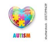 world autism awareness day.... | Shutterstock .eps vector #1037299639