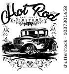 hot rod classics hotrod... | Shutterstock .eps vector #1037301658