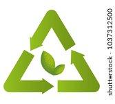 recycle symbol environmental...   Shutterstock .eps vector #1037312500