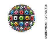3d Sphere With Colorful...
