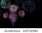 Small photo of Fireworks background with copy space shot in Columbus, Ohio at Red, White & Boom