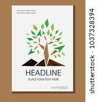 vector design cover book annual ... | Shutterstock .eps vector #1037328394