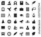 flat vector icon set   book...   Shutterstock .eps vector #1037335744