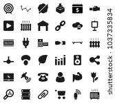 flat vector icon set   splotch... | Shutterstock .eps vector #1037335834