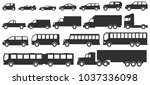 cars  trucks and bus icons set. ... | Shutterstock .eps vector #1037336098