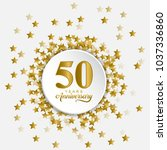 stylized and modern happy 50... | Shutterstock .eps vector #1037336860