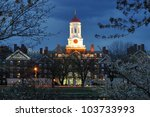 harvard university at night | Shutterstock . vector #103733993