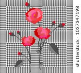 elegant checkered  print with... | Shutterstock .eps vector #1037347198