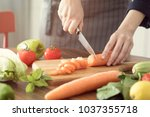 healthy nutrition salad... | Shutterstock . vector #1037355718