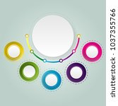 abstract circle infographics... | Shutterstock .eps vector #1037355766