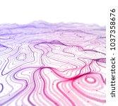 3d topographic map background... | Shutterstock . vector #1037358676