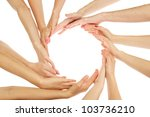 Group Of Young People's Hands...