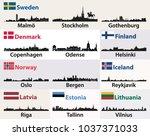 vector cities skylines... | Shutterstock .eps vector #1037371033