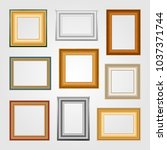 set of picture frames on light... | Shutterstock . vector #1037371744