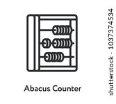 abacus counter vintage antique... | Shutterstock .eps vector #1037374534