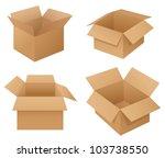 illustration of cardboard boxes ... | Shutterstock .eps vector #103738550
