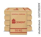 cement paper bags | Shutterstock .eps vector #1037390599