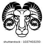 astrology zodiac signs circular ...   Shutterstock . vector #1037403250