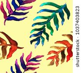 watercolor hand drawn summer...   Shutterstock . vector #1037403823