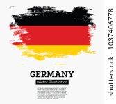 germany flag with brush strokes.... | Shutterstock .eps vector #1037406778