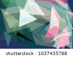 colorful low polygon pastel... | Shutterstock .eps vector #1037435788