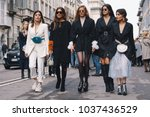 milan  italy   february 24 ... | Shutterstock . vector #1037436529