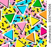 colorful seamless pattern from... | Shutterstock .eps vector #1037440306