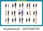 businesswomen handshake.... | Shutterstock .eps vector #1037440759